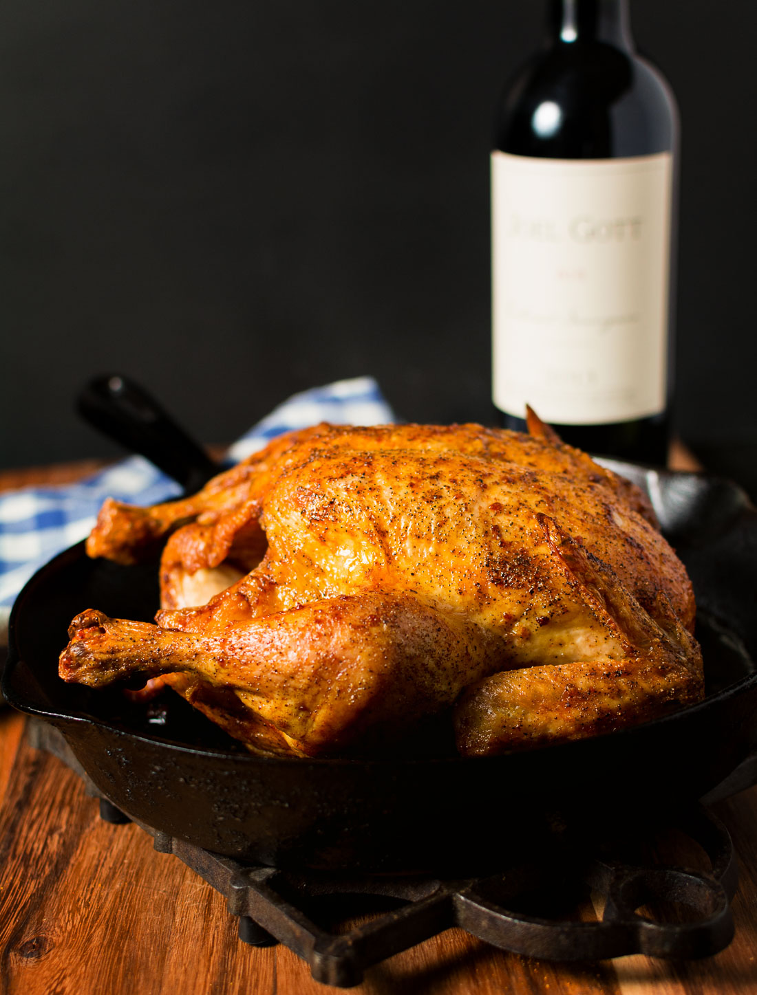 Roast chicken with a white wine pan sauce. Comfort food at it's best.