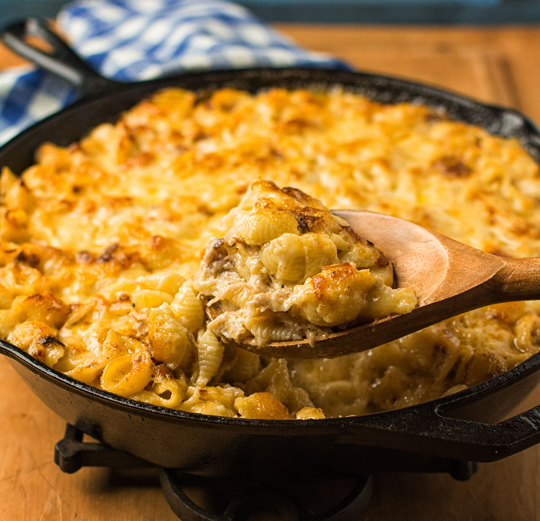This mac and cheese is so good it will outshine your main courses. Loaded with gruyere and cheddar, it does away with breadcrumbs and other distractions.