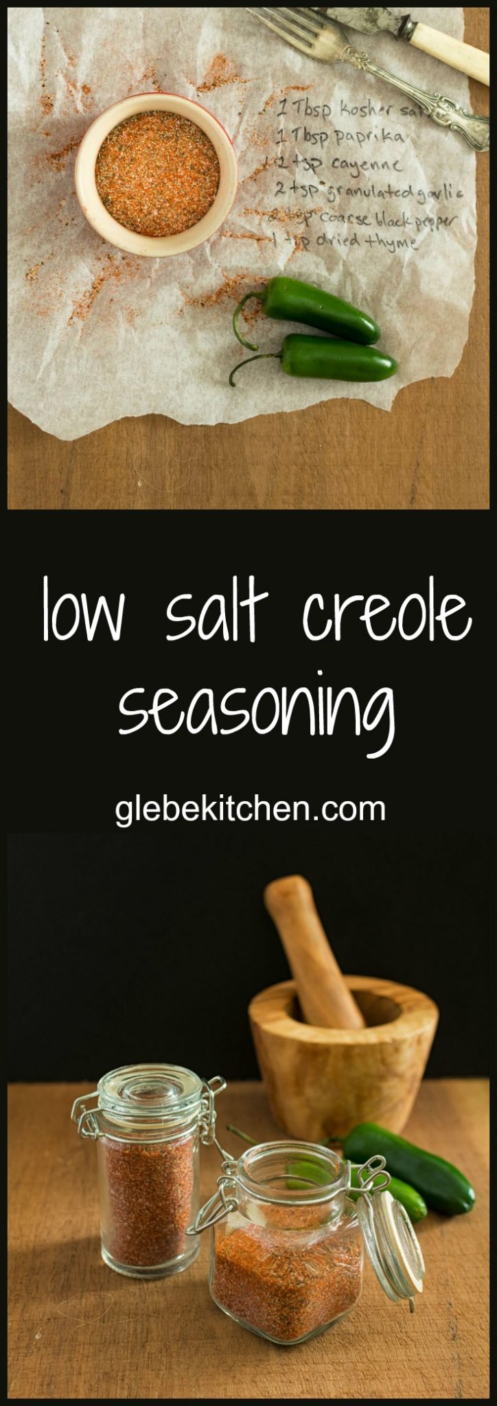 A simple, low salt creole seasoning that spices up everything!
