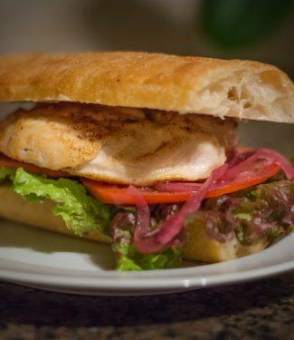 chicken sandwich skin on