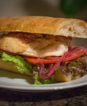 chicken sandwich with a twist