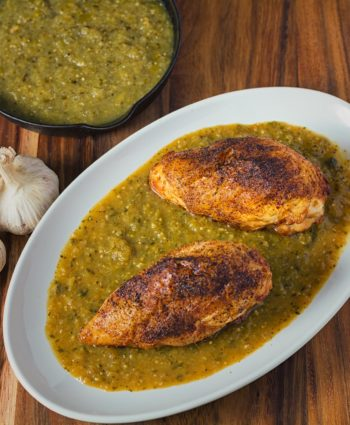 roasted chicken with tomatillo sauce
