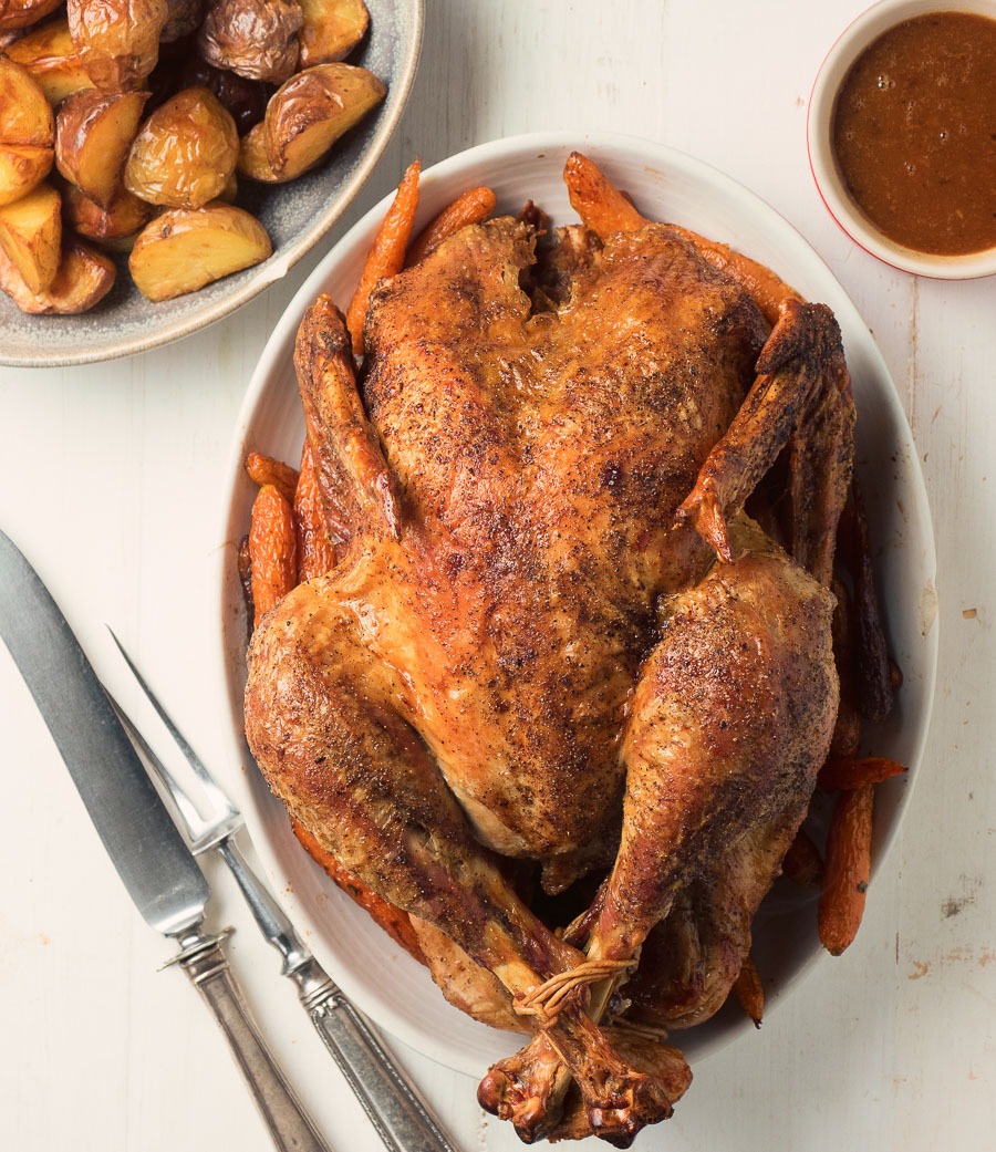 Dry brine for perfect roast turkey every time!