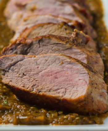 roasted pork with tomatillo sauce