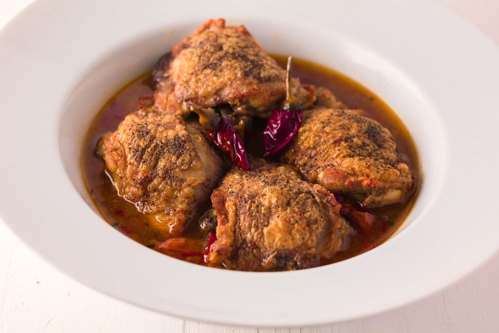 Chicken with calabrian chilies