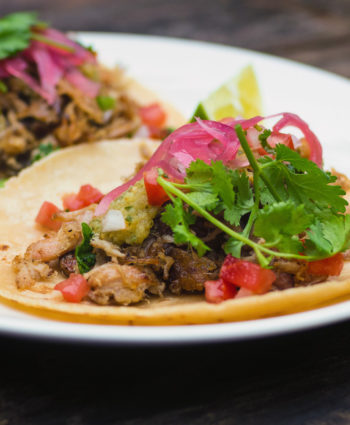 sous vide pork carnitas tacos