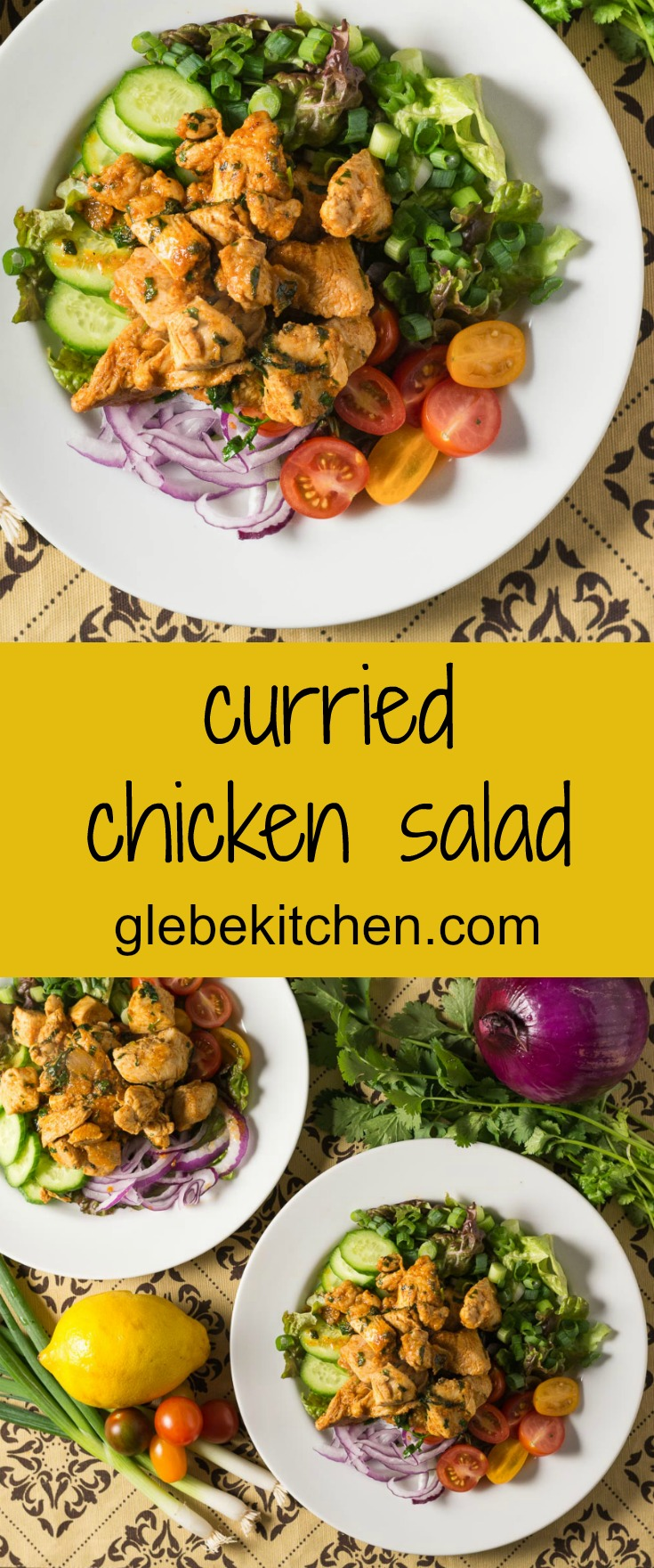 An Indian inspired composed salad that also makes a great main course.