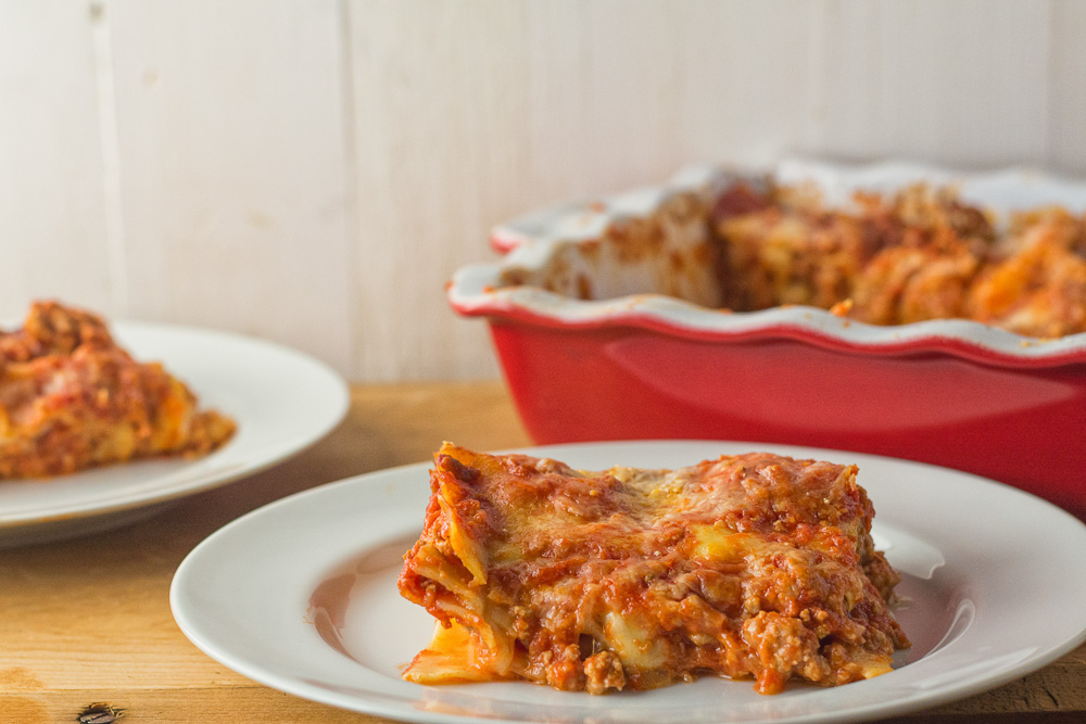 Neapolitan lasagna is a great alternative to your regular lasagna. Pork and Italian sausage meld beautifully with tomato and fresh mozzarella.