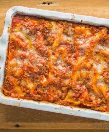 neapolitan lasagna with fresh mozzarella