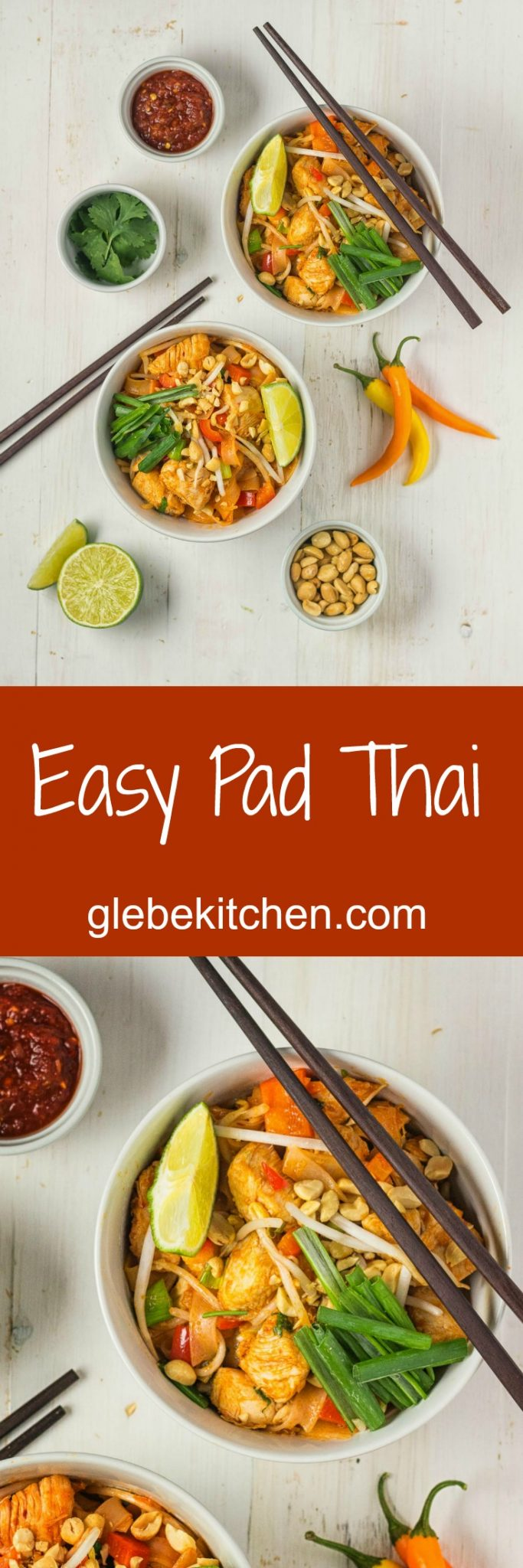 A simpler pad thai recipe great for weeknight dinners.