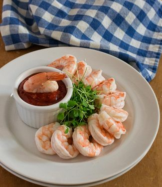 Foolproof shrimp cocktail with homemade cocktail sauce.