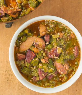 Put some south in your mouth with this healthy, well spiced chicken gumbo with okra.
