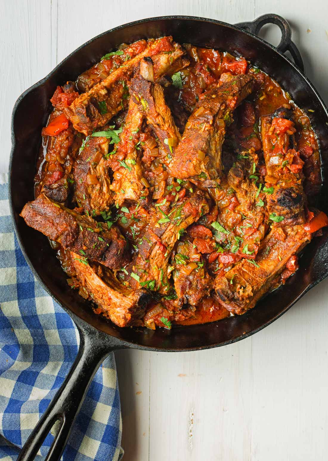 Melting pork back ribs, fire roasted tomatoes and cheese polenta come together in this fine dining riff on Mexican pork chili.