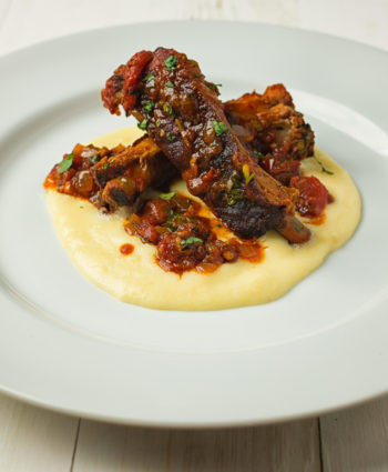 mexican pork ribs with creamy cheese grits