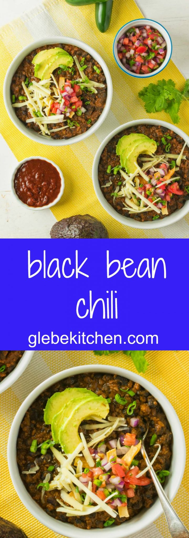 Pork, beef, new mexican red chili powder and fire roasted tomatoes all star in this black bean chili. This chili is for lovers of big flavours!