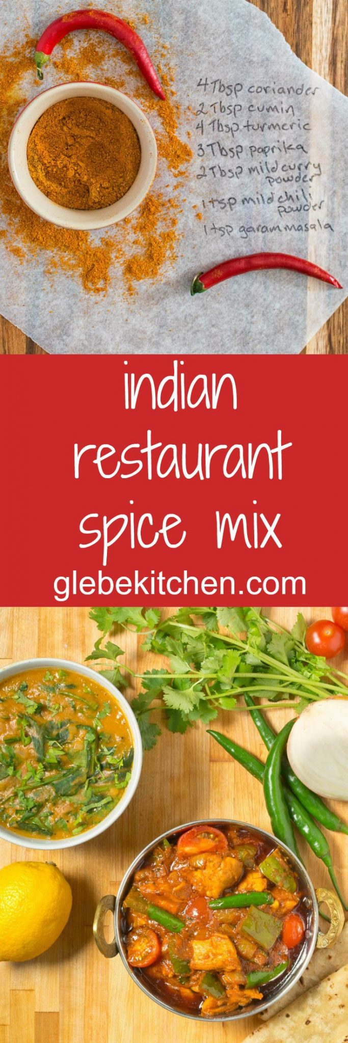 This simple Indian restaurant spice mix can be used to make almost any Indian restaurant curry.