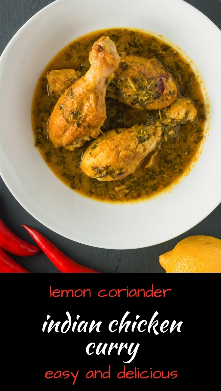 This is an easy and absolutely delicious Indian chicken loaded with lemon and cilantro flavours!