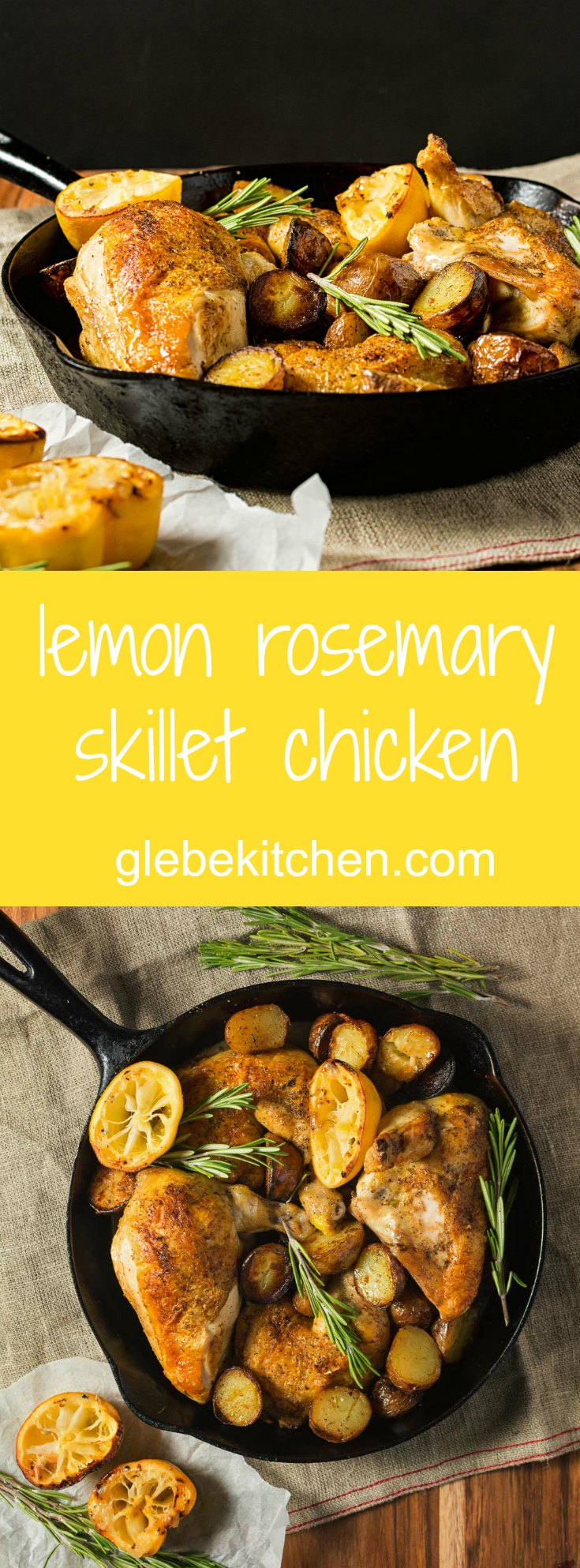 Lemon rosemary chicken. Easy enough for a weeknight dinner but good enough for friends.