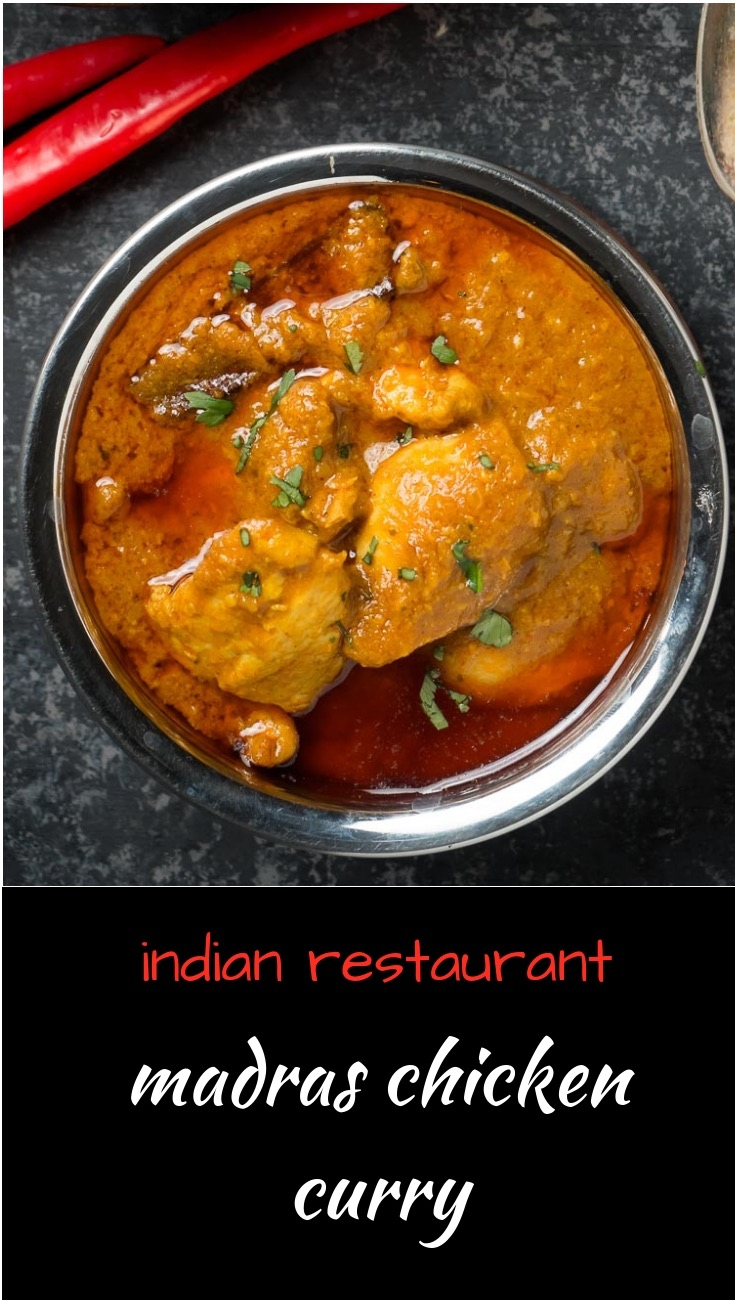 Indian restaurant madras chicken curry. Just like they make it in restaurants. But at home.