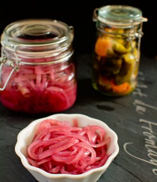 Use these Yucatan pickled onions on tacos, burgers, sandwiches or just eat them out of the jar.