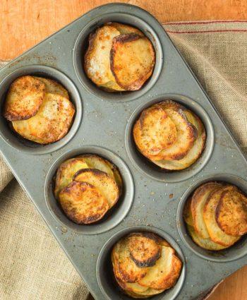 muffin tin potato galettes