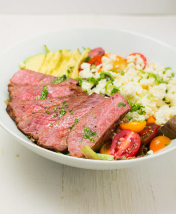 steak salad with cilantro lime vinaigrette