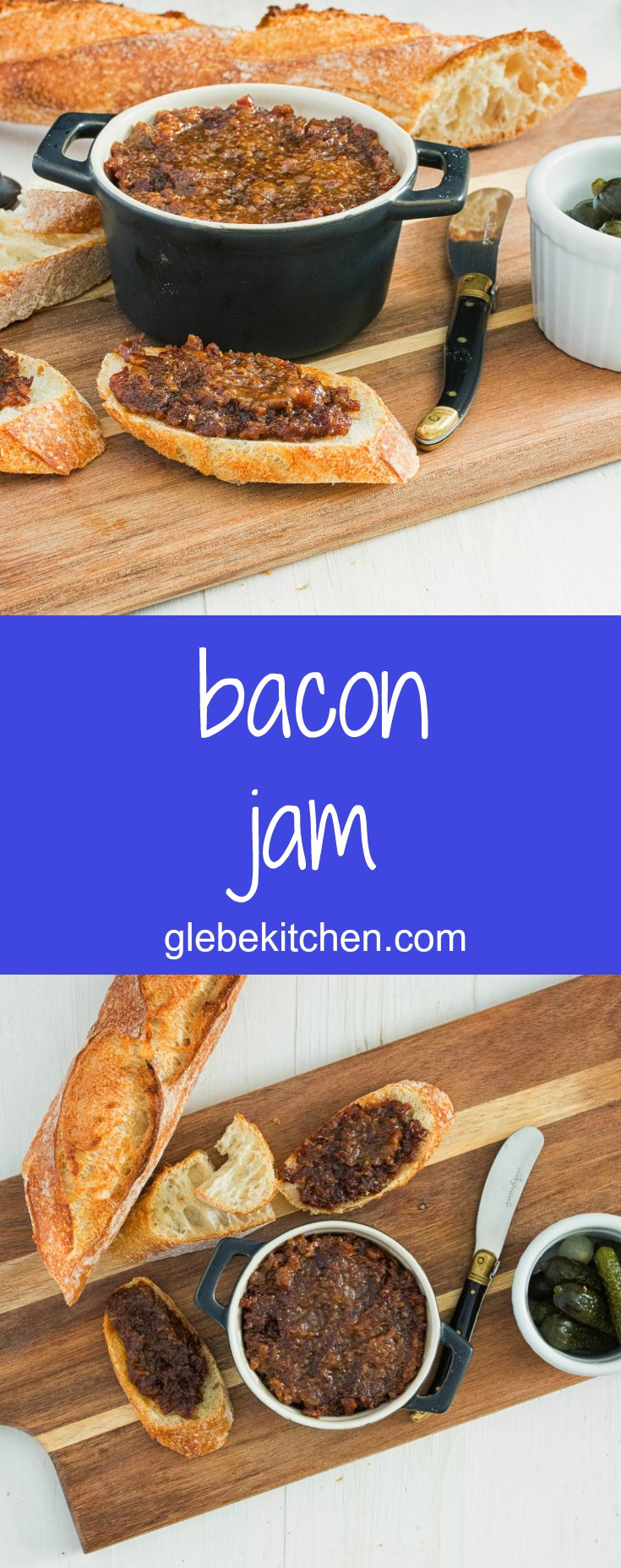 Bacon jam is a salty, sweet, savoury bacon flavour bomb. Serve it along with baguette or use it in the ultimate bacon, lettuce and tomato sandwich.