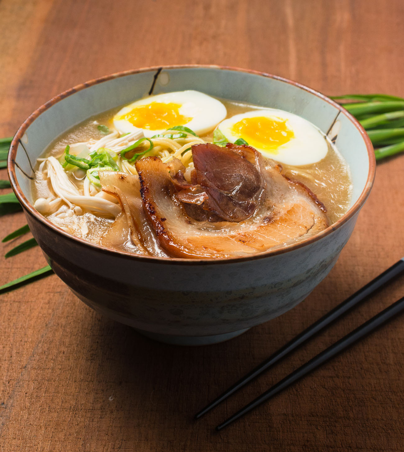 You can make tonkotsu ramen that's as the best ramen joint in town.