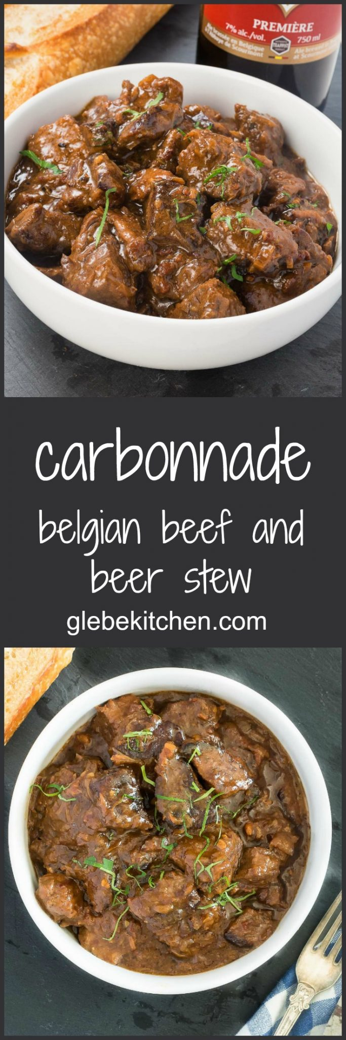Beef and beer stew - carbonnade a la flamande is all about beer, beef and onions.