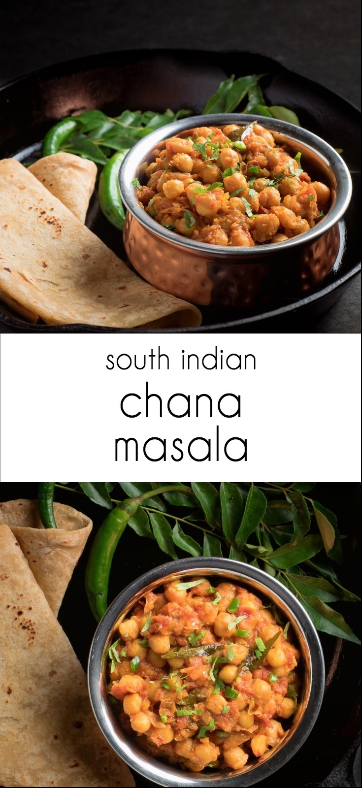 South Indian chana masala - big fresh flavours in this classic Indian chickpea dish.