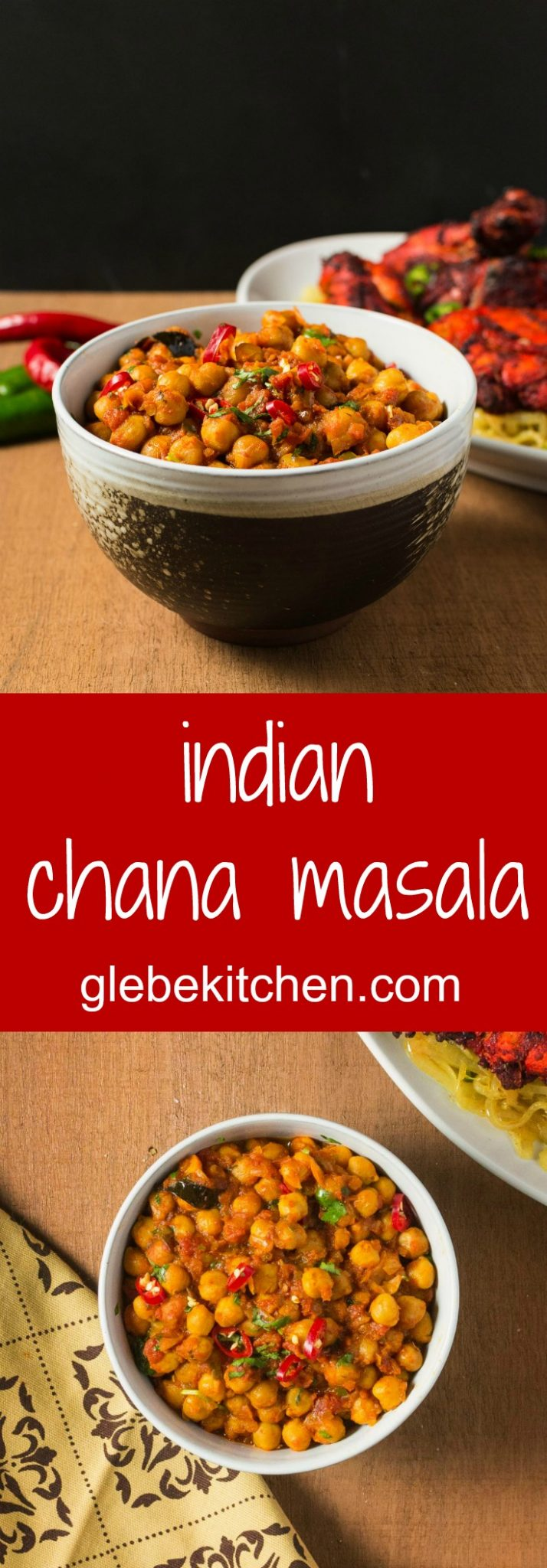 This chana masala is a great chickpea curry with a South Indian twist.