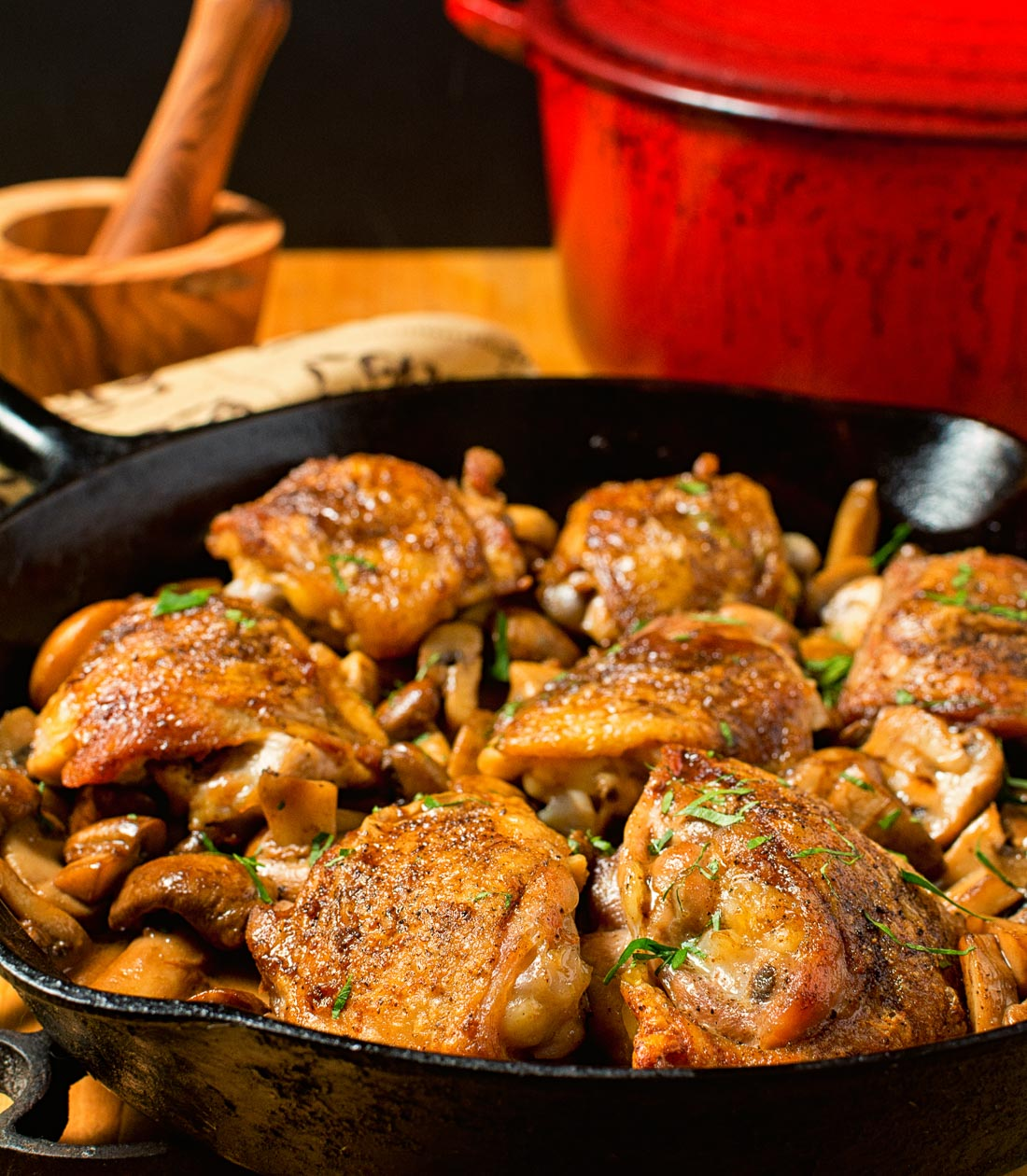 Rustic chicken marsala. Less fuss and more flavour.