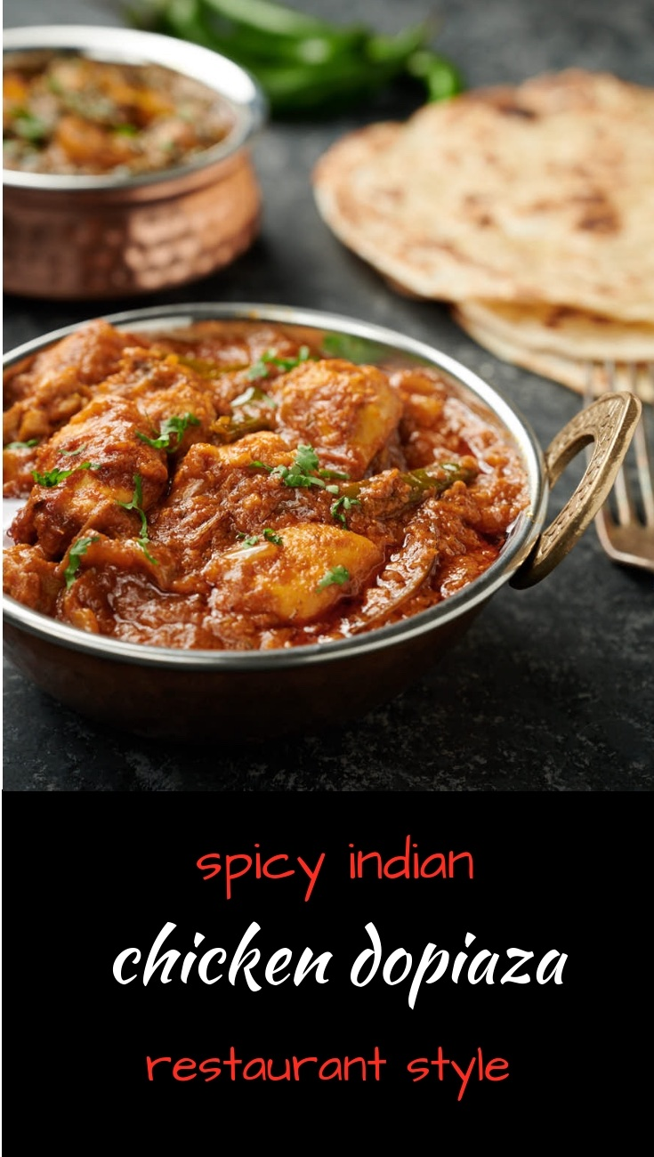 Dopiaza done restaurant style. This is the chicken Dopiaza you get at your takeaway