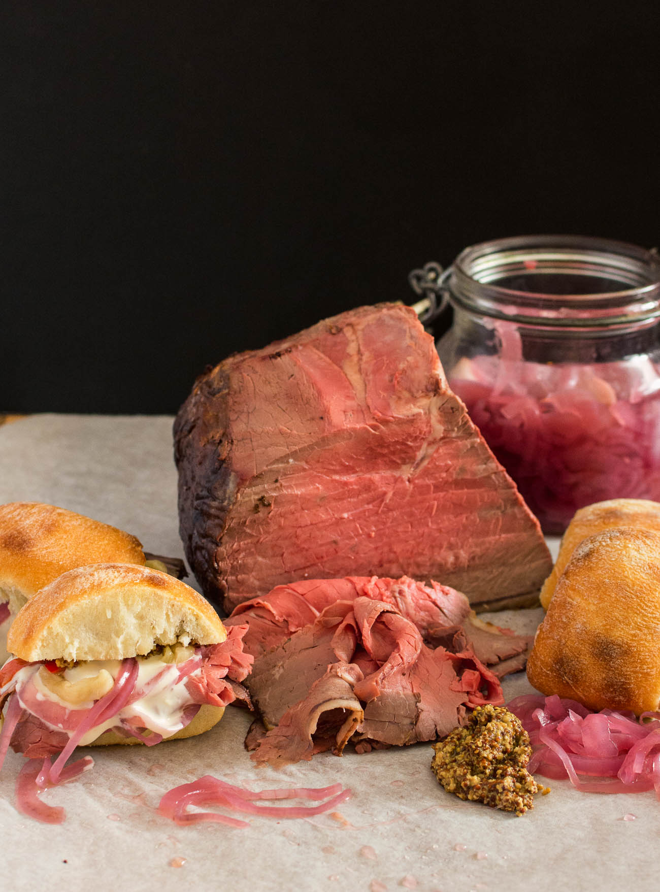 Make your roast beef sandwich beef from scratch. Cheaper, tastier and dead easy.