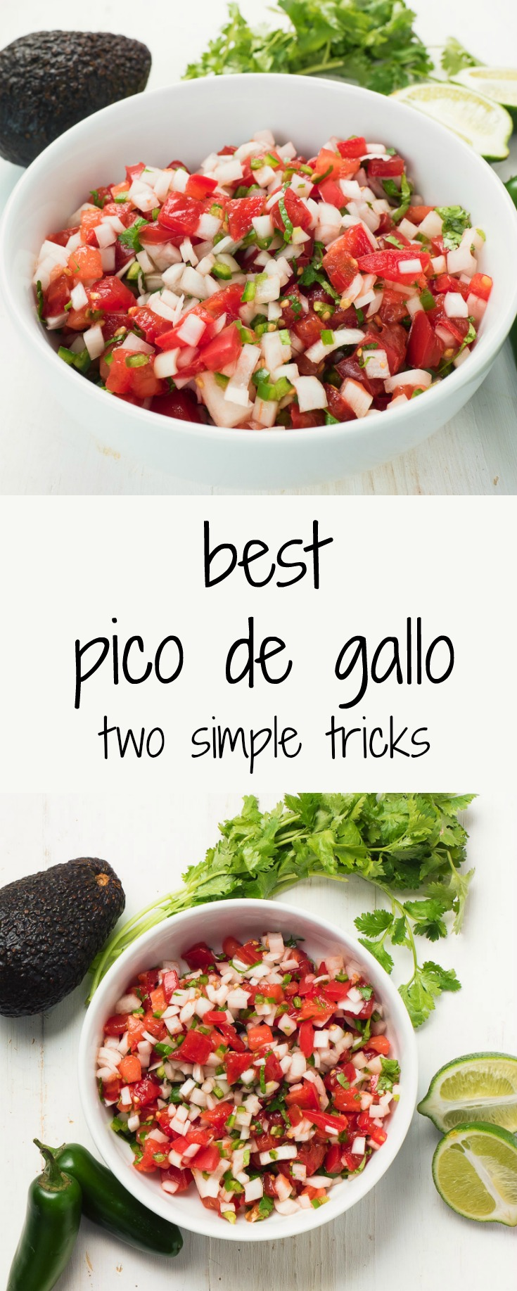 Two simple tricks to make the better pico de gallo