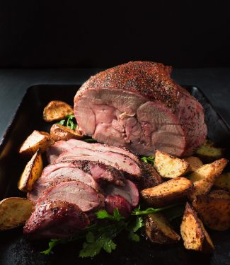 Grill roasted leg of lamb is a timeless way to serve lamb.