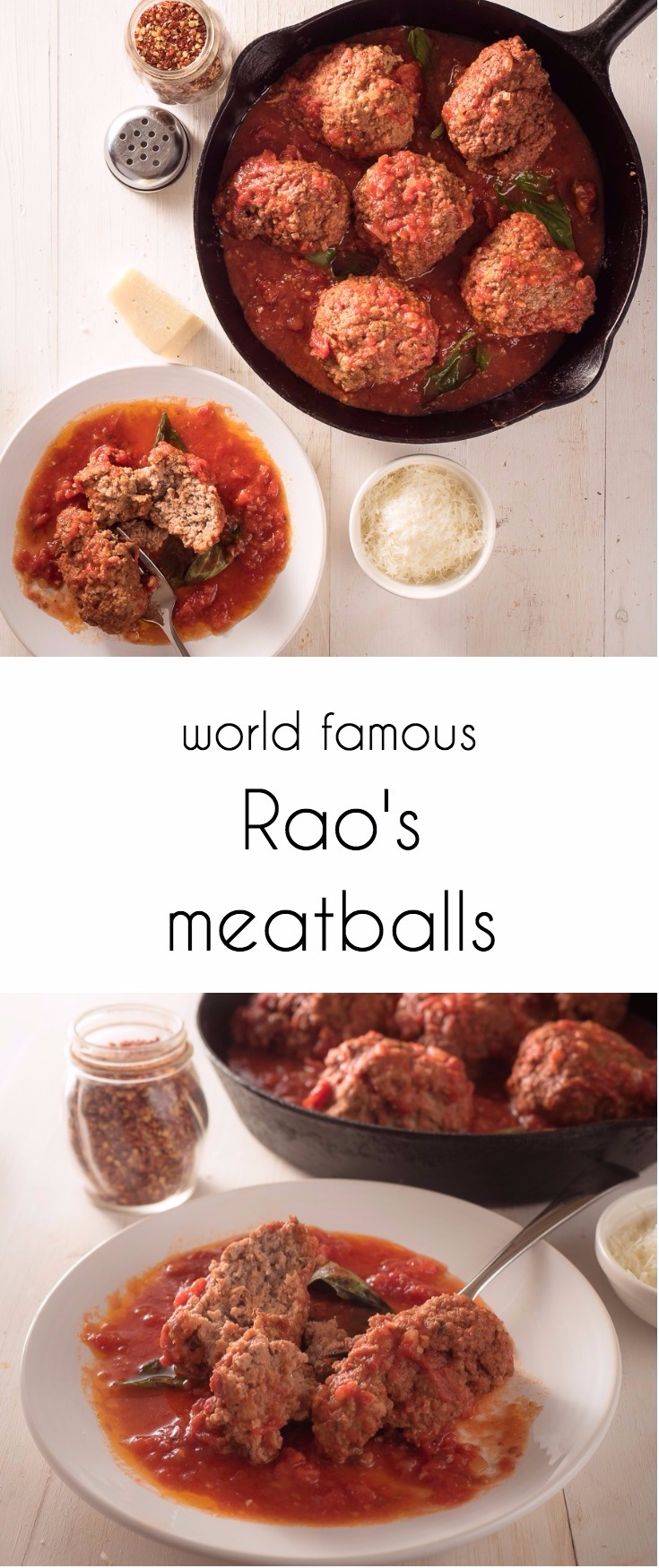 Raos meatballs in marinara are world famous for a reason