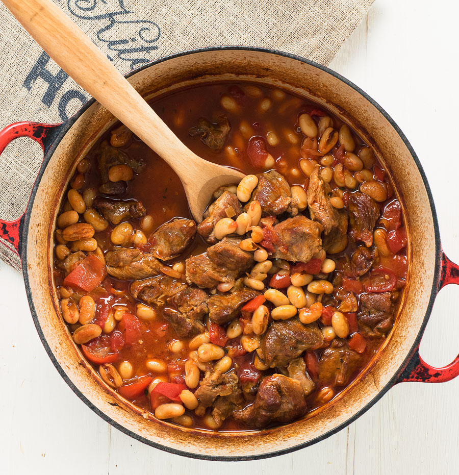 Spanish lamb stew is the perfect stew for spring and summer.