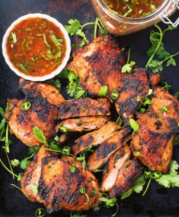 thai grilled chicken with sweet chili sauce