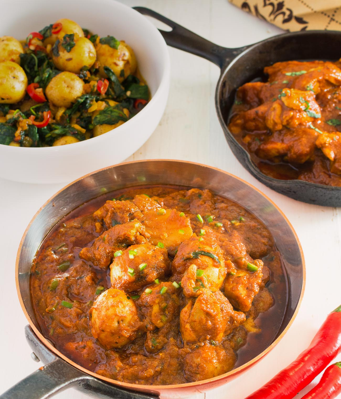 Restaurant style aloo chat chicken is a salty sour medium spicy potato and chicken curry.