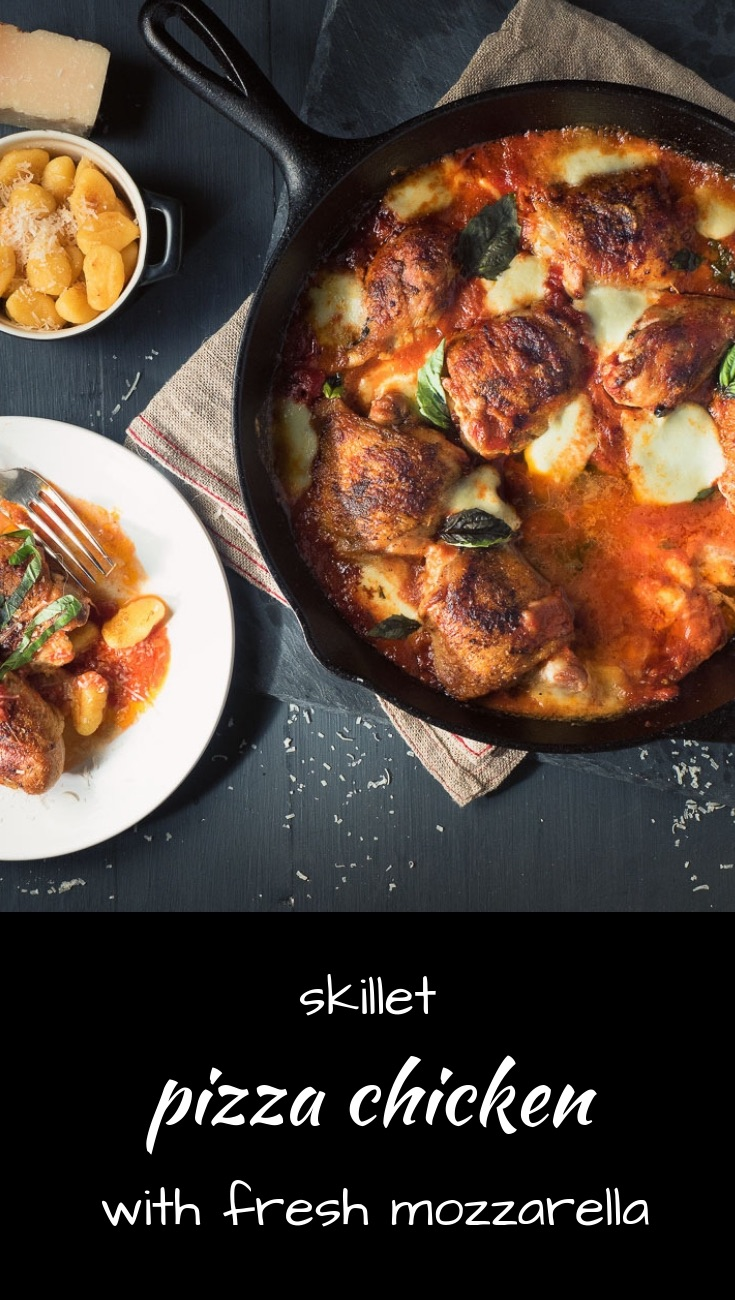 Pizza chicken with tomato sauce and fresh mozzarella is going to become a family favourite!