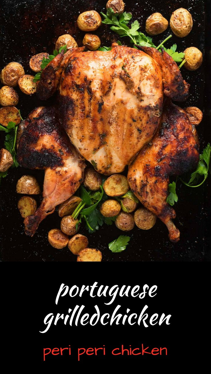 Portuguese chicken or peri peri chicken is one of the great grilled chicken recipes.