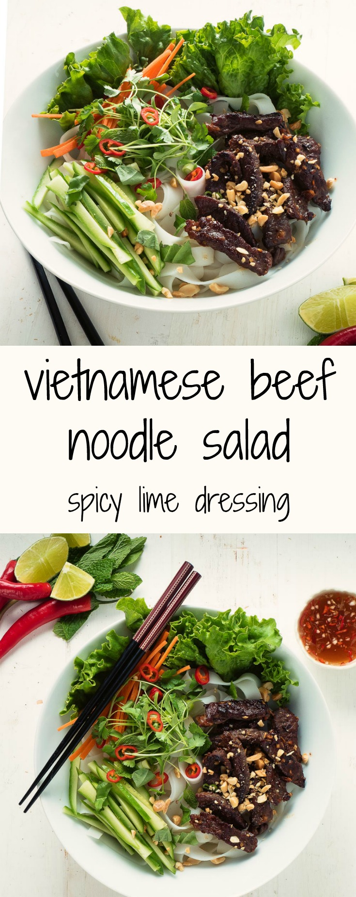 Vietnamese beef noodle salad - perfect for summer.