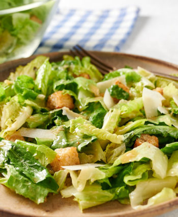 caesar salad with roasted garlic croutons