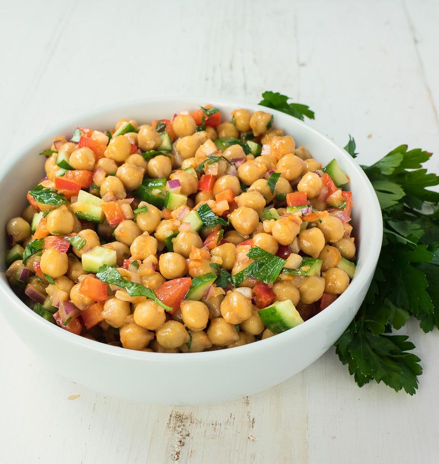 Chickpea Salad With Sun Dried Tomato Vinaigrette