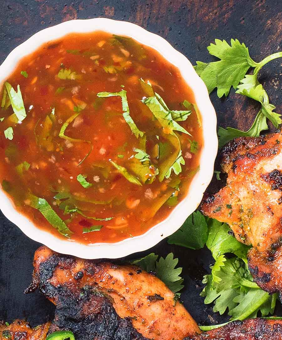 Thai grilled chicken dipping sauce from above.