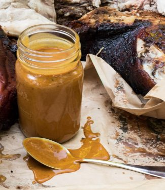 Carolina mustard sauce is the perfect complement to real pulled pork.