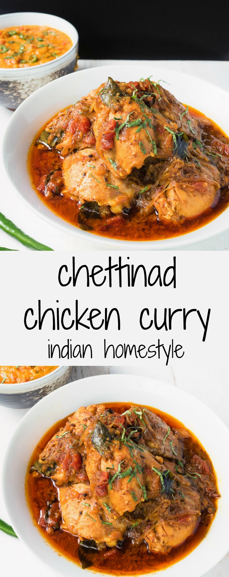 Chettinad chicken curry is a South Indian dish loaded with coconut, spices and curry leaves.