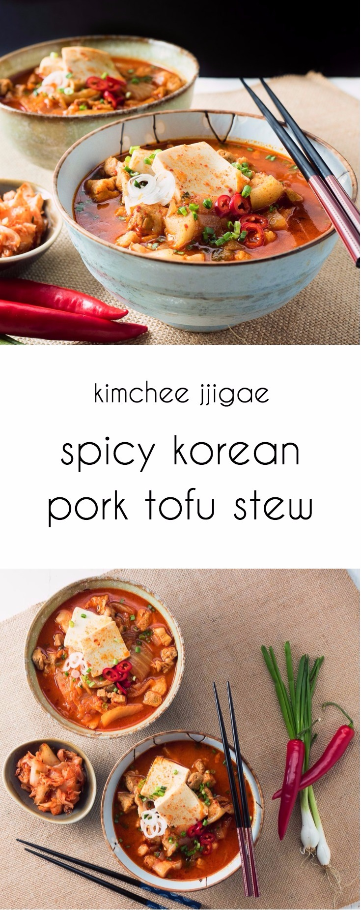 Kimchee jjigae - korean pork stew is a bowl full of spicy, brothy pork goodness.