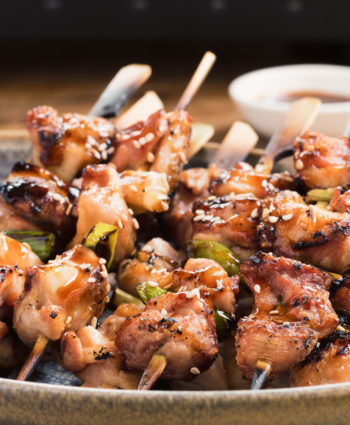 japanese grilled chicken yakitori skewers